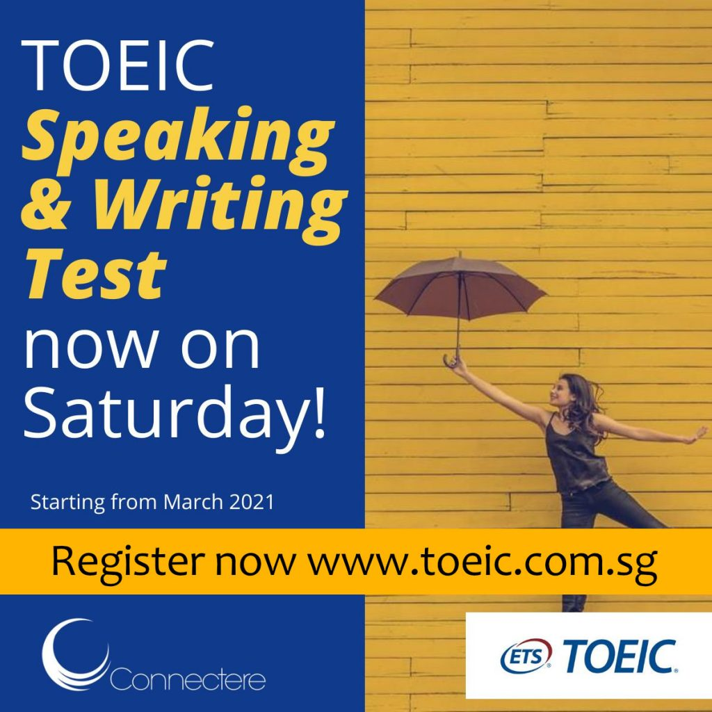 TOEIC Speaking and Writing Test on Saturday